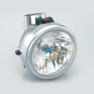キタコ マルチリフレクターヘッドライト(メッキ)STDメーター取付けタイプ